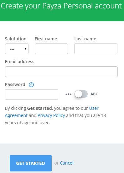 payza регистрация
