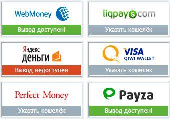 ввод вывод денег